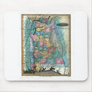 Old 1826 Alabama Map Mouse Pad