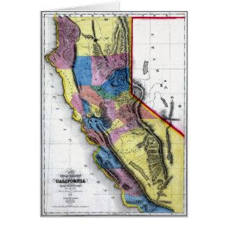 Old 1851 California Map Card