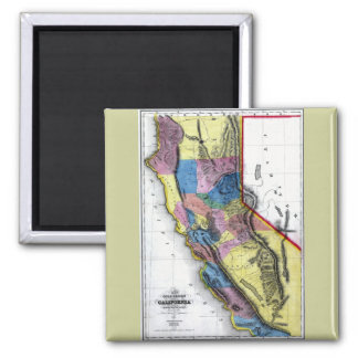 Old 1851 California Map Magnet