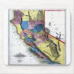 Old 1851 California Map Mouse Mats