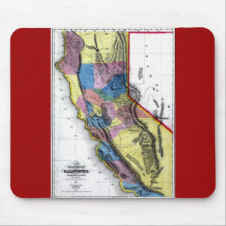 Old 1851 California Map Mouse Pad