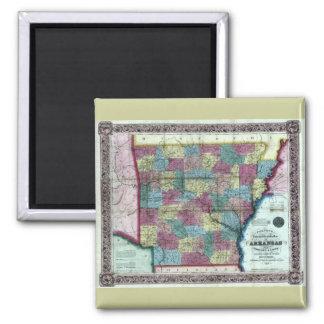 Old 1854 Arkansas Map Magnet