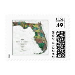 Old 1856 Florida Map Stamps