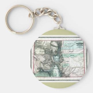 Old 1862 Colorado Map Basic Round Button Keychain