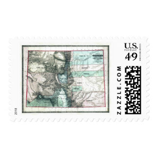 Old 1862 Colorado Map Postage Stamp