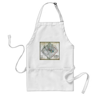 Old 1862 Washington District of Columbia Map Adult Apron