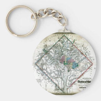 Old 1862 Washington District of Columbia Map Keychain