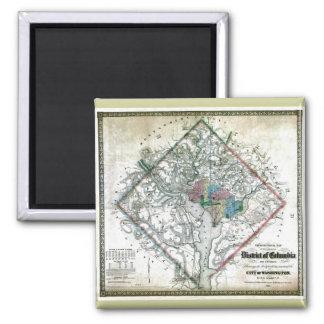 Old 1862 Washington District of Columbia Map Refrigerator Magnet