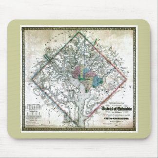 Old 1862 Washington District of Columbia Map Mouse Mat