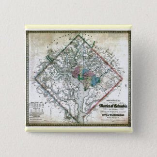 Old 1862 Washington District of Columbia Map Pinback Button
