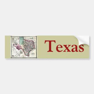 Old 1866 Texas Map Bumper Sticker