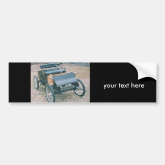 old 1903 car bumper sticker