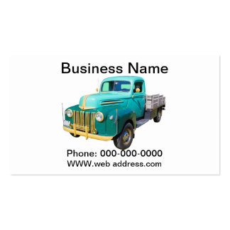 Old 1940s Flat Bed Ford Work Truck Business Card