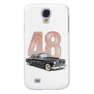 Old 1948 Cadillac Coupe: Black classic car Samsung S4 Case