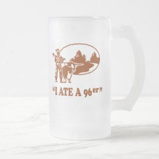 Old 96er frosted glass beer mug