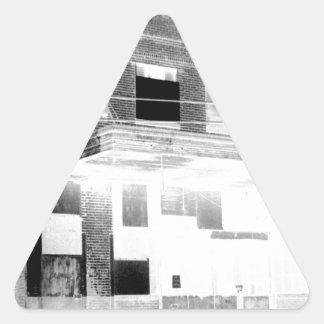 Old Abandon Building negative Triangle Sticker