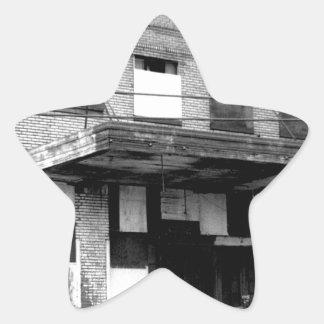 Old Abandon Building Star Sticker