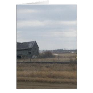 Old Abandoned Barn Card