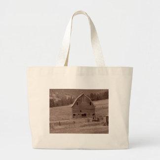 Old Abandoned barn Large Tote Bag