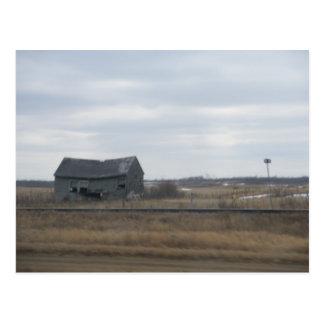 Old Abandoned Barn Postcard