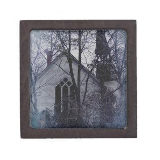 Old Abandoned Church Keepsake Box