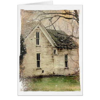 Old Abandoned House Card