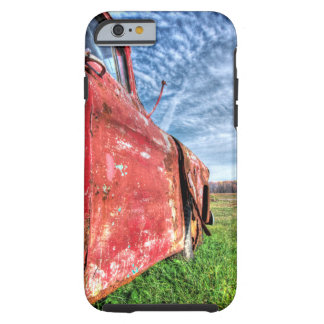Old Abandoned red Chevy Truck iPhone 6 Case