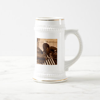 Old Abe-The Wisconsin War Eagle Stereoview ca 1875 Beer Stein