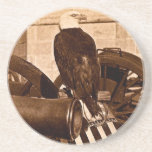 Old Abe, The Wisconsin War Eagle Vintage 1875 Beverage Coaster