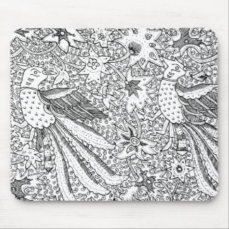 Old Abstract Textile Nature Pattern Mouse Pad