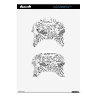 Old Abstract Textile Nature Pattern Xbox 360 Controller Skin