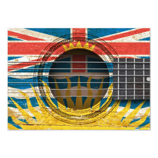 Old Acoustic Guitar with British Columbian Flag Card