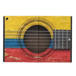 Old Acoustic Guitar with Colombian Flag Cover For iPad Air