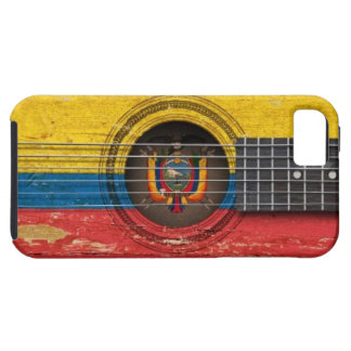 Old Acoustic Guitar with Ecuadorian Flag iPhone SE/5/5s Case