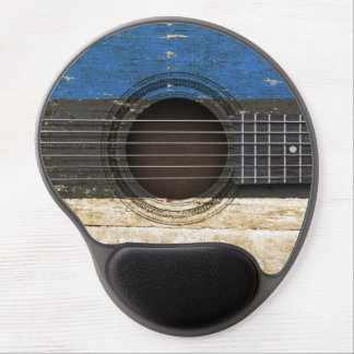 Old Acoustic Guitar with Estonian Flag Gel Mouse Pad