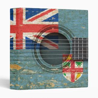 Old Acoustic Guitar with Fiji Flag Vinyl Binder