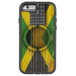 Old Acoustic Guitar with Jamaican Flag iPhone 6 Case