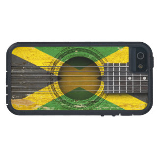 Old Acoustic Guitar with Jamaican Flag iPhone 5 Covers