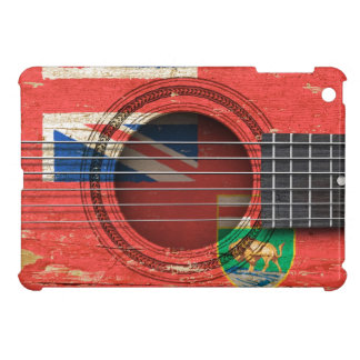 Old Acoustic Guitar with Manitoba Flag iPad Mini Cover