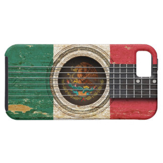 Old Acoustic Guitar with Mexican Flag iPhone 5 Cover