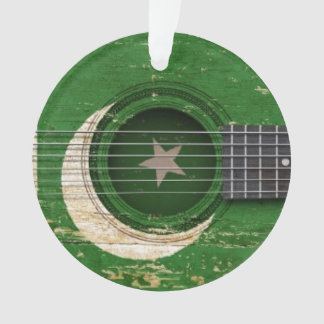 Old Acoustic Guitar with Pakistani Flag