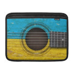 Old Acoustic Guitar with Ukrainian Flag MacBook Air Sleeves