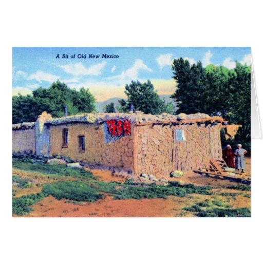 Old Adobe House New Mexico Greeting Card