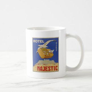 Old Advert Athens Greece Hotel Majestic Coffee Mug