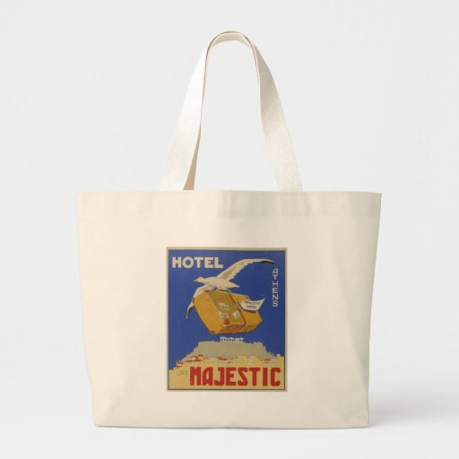Old Advert Athens Greece Hotel Majestic Tote Bag