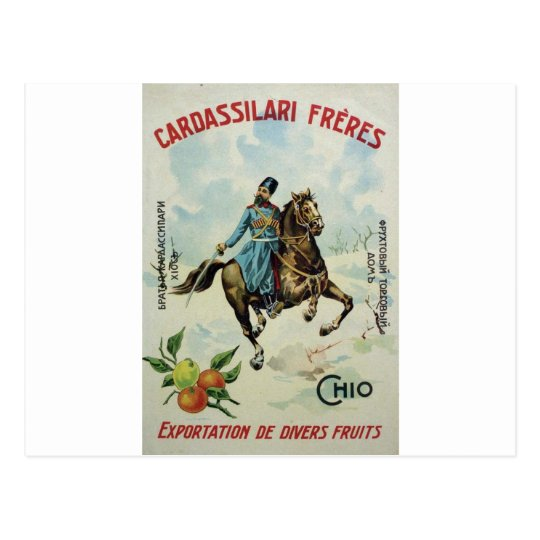 Old Advert Cardassilari Freres Postcard