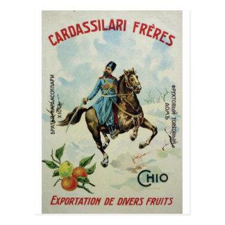 Old Advert Cardassilari Freres Postcard