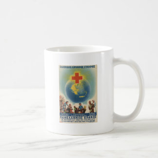 Old Advert Greece Greek Red Cross Coffee Mug
