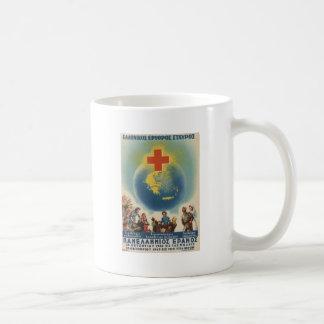 Old Advert Greece Greek Red Cross Coffee Mug