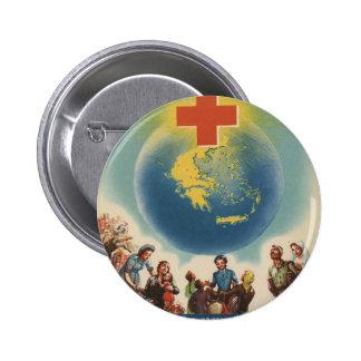 Old Advert Greece Greek Red Cross Pinback Buttons